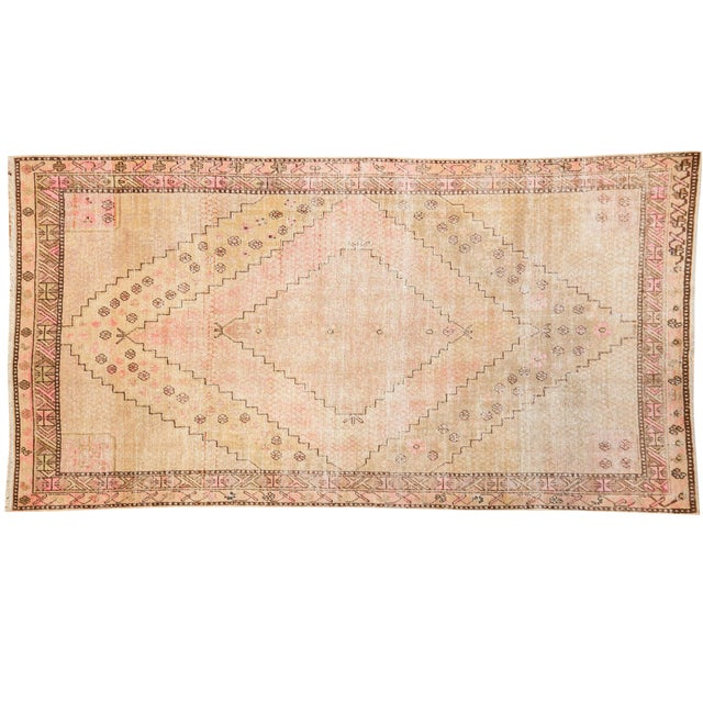 "Vintage Distressed Khotan Rug - 4'7"" x 8'9"" - Image 1 of 10"