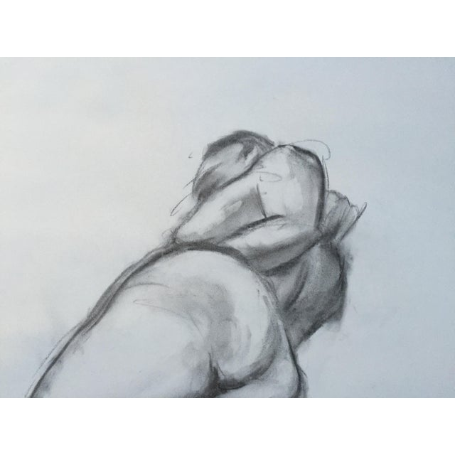 Charcoal Female Nude Line Drawing # 4 - Image 2 of 3