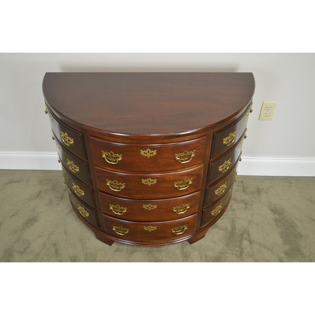 Madison Square Demilune Chippendale Chest of Drawers For Sale - Image 10 of 13