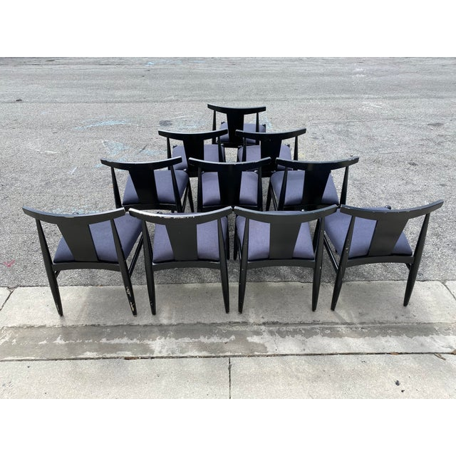 Midcentury Modern Style Klismos Chairs Set of Ten . For Sale - Image 12 of 13