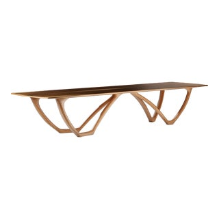 Rice & Rice Fine Furniture Sculptura Dining Table in Walnut For Sale
