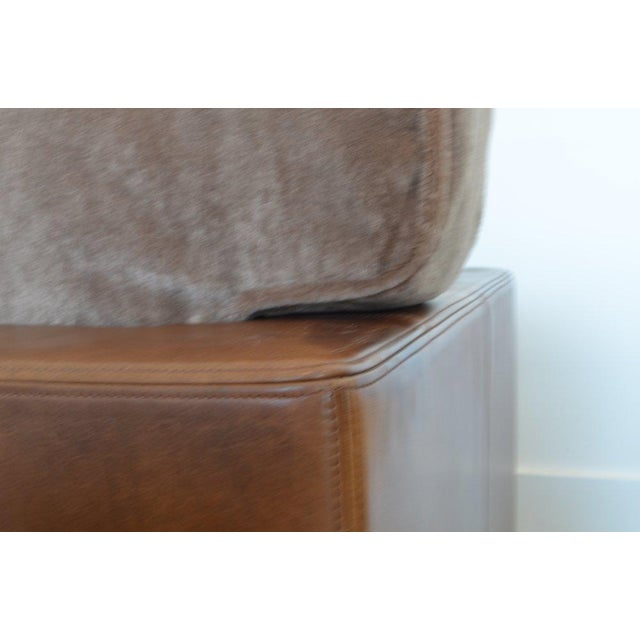 De Sede Desede Leather and Mohair Club Chairs For Sale - Image 4 of 6