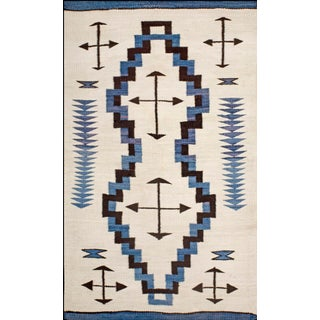 "1910s Antique Navajo Rug- 3'10"" X 6'4"" For Sale"