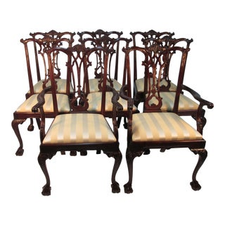 Mahogany Chippendale Chairs - Set of 8 For Sale