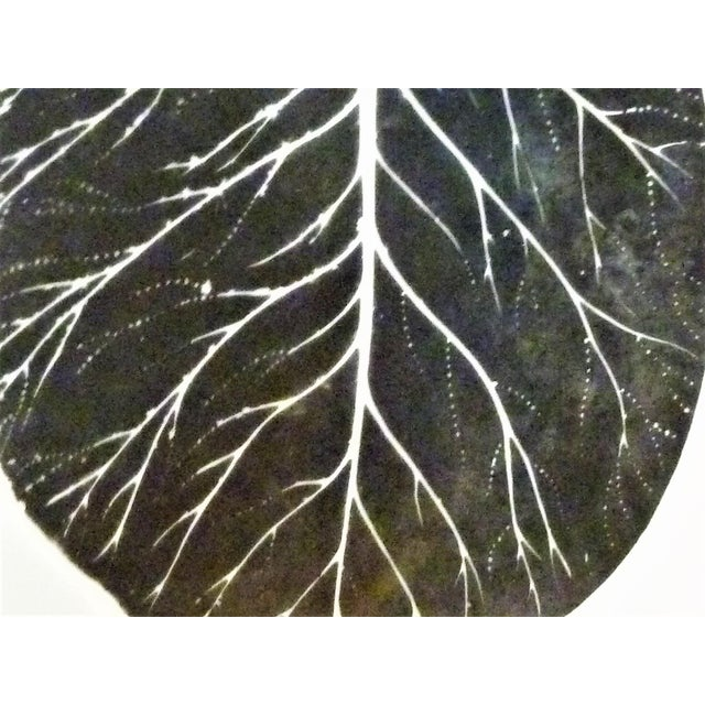 Ceramic 1950s Mid-Century Fornasetti Italy Black and White Foliage or Foglie Plates - Set of 3 For Sale - Image 7 of 13