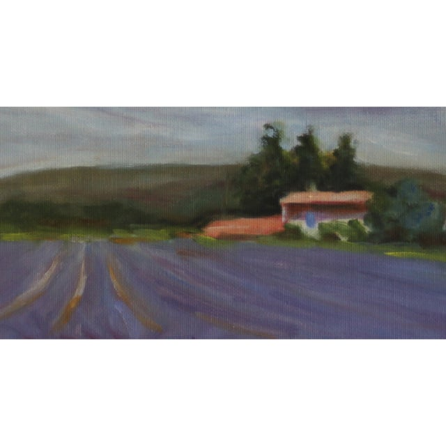 Lavender Field Landscape Oil Painting - Image 3 of 3