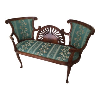 Late 20th Century Vintage French Settee For Sale