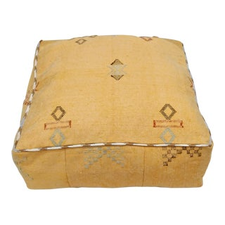 Moroccan Ottoman Seating Pouf Cover For Sale