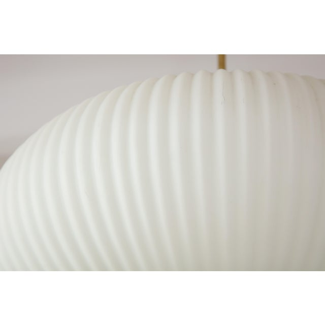 Stilnovo Ribbed Milk Glass Globe Lantern For Sale - Image 10 of 13