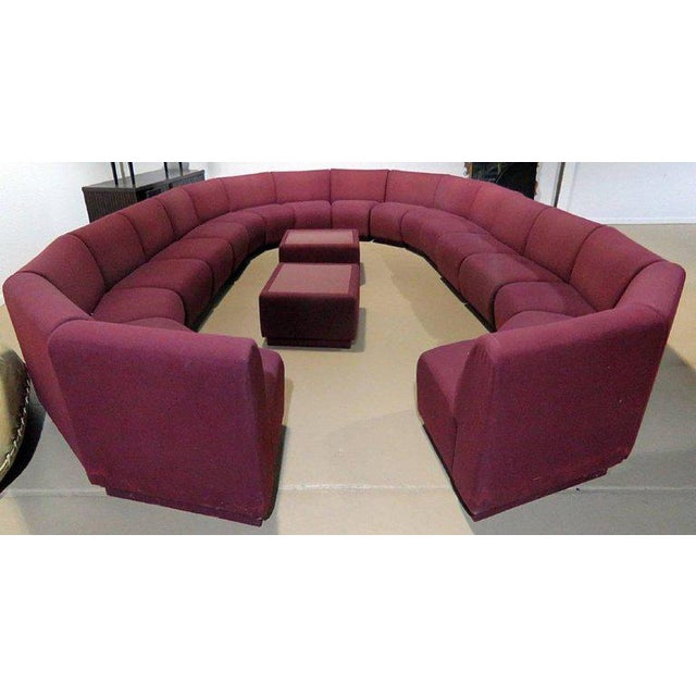 Milo Baughman for Thayer Coggin 20 piece modular living room set. Numerous seating arrangements possible, consisting of 18...