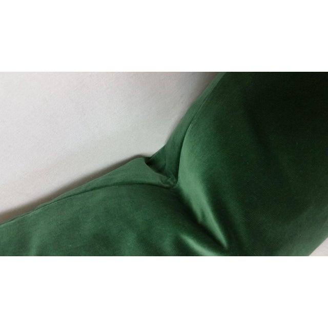 Contemporary Kravet Versailles Velvet Emerald Green Lumbar Pillow Cover For Sale - Image 3 of 6
