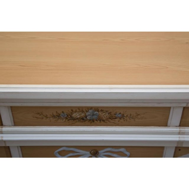 Wood Faux Grain and Hand-Painted Three-Drawer Chest of Drawers For Sale - Image 7 of 8