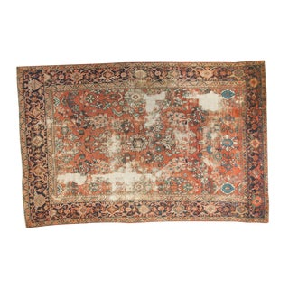 "Distressed Mahal Carpet - 6'7"" x 10' For Sale"