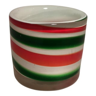 Candy Cane Colored Candle Holder For Sale
