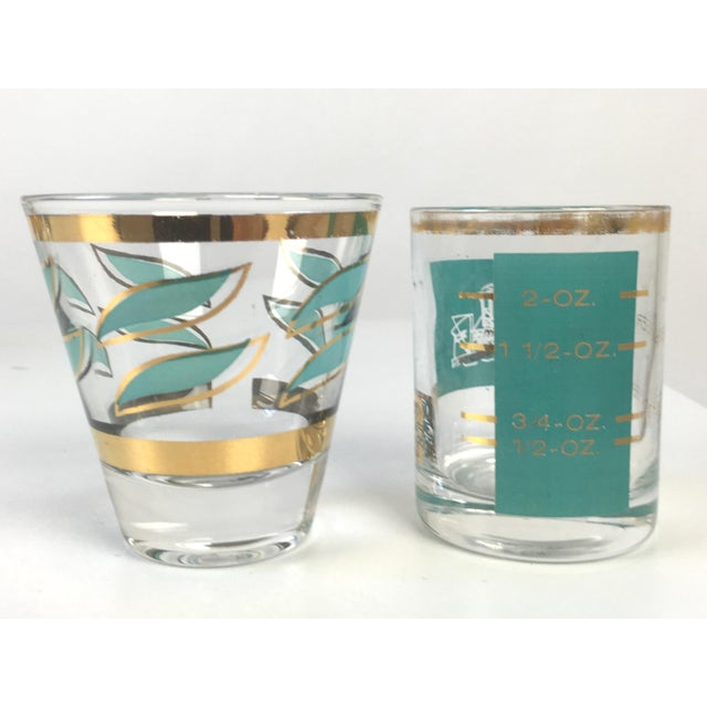 Mid-Century Shot Glasses and Jigger - Set of 12 - Image 6 of 7