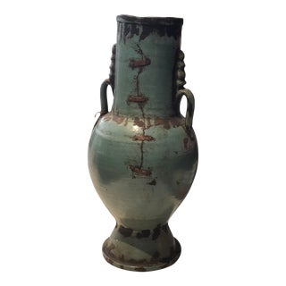 Large Turquoise Moroccan Urn For Sale