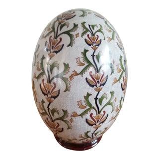 Chinese Satsuma Style Ceramic Egg For Sale