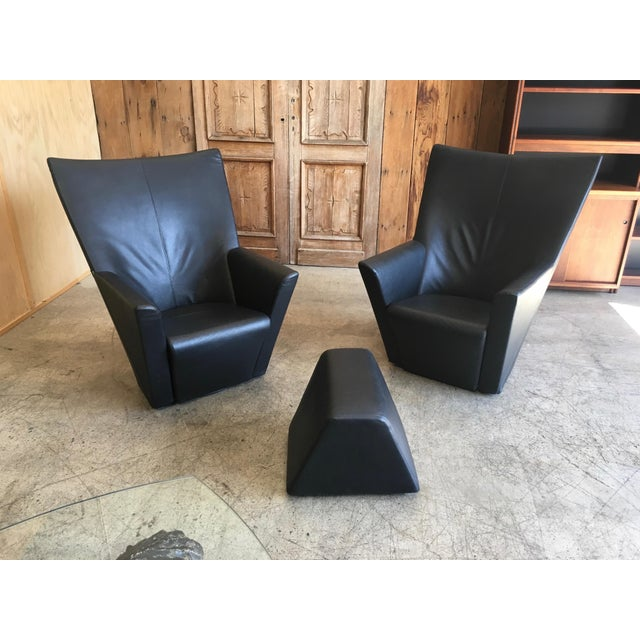 Arflex Armilla Arm Chairs and Ottoman by Arflex For Sale - Image 4 of 10