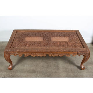 20th Century Anglo Indian Hand-Carved Coffee Table Preview