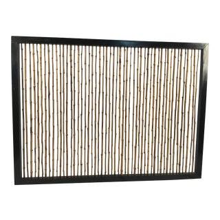1960s Asian Modern Bamboo Headboard For Sale