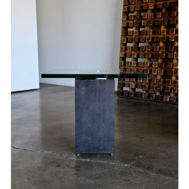 Metal Gerald McCabe I Beam Side Tables Circa 1965 - a Pair For Sale - Image 7 of 13