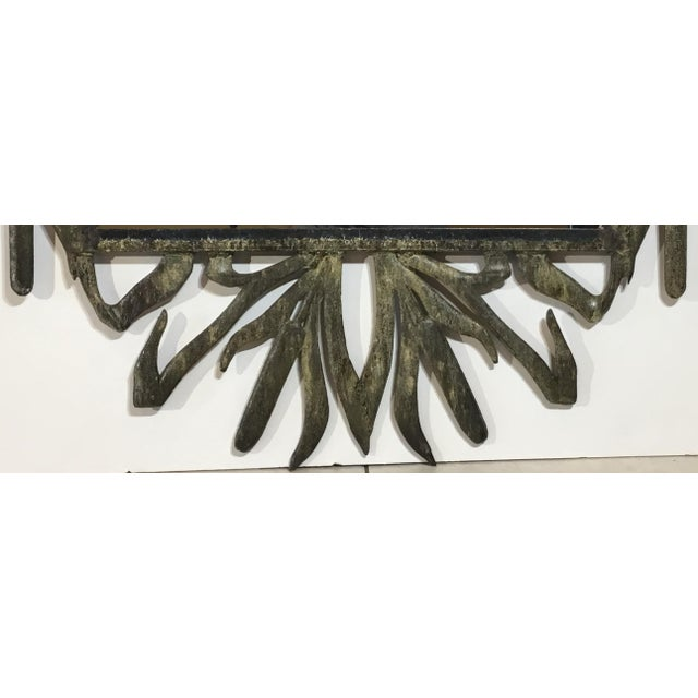 Abstract Hollywood Regency Iron Cat Tail Wall Mirror For Sale In Miami - Image 6 of 13