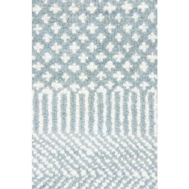 "New Tonal Stripe Hand Knotted Area Rug - 9'1"" x 12' - Image 3 of 3"