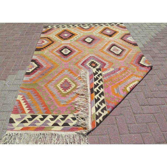 Vintage Turkish Kilim Rug- 5′9″ × 8′5″ - Image 6 of 6