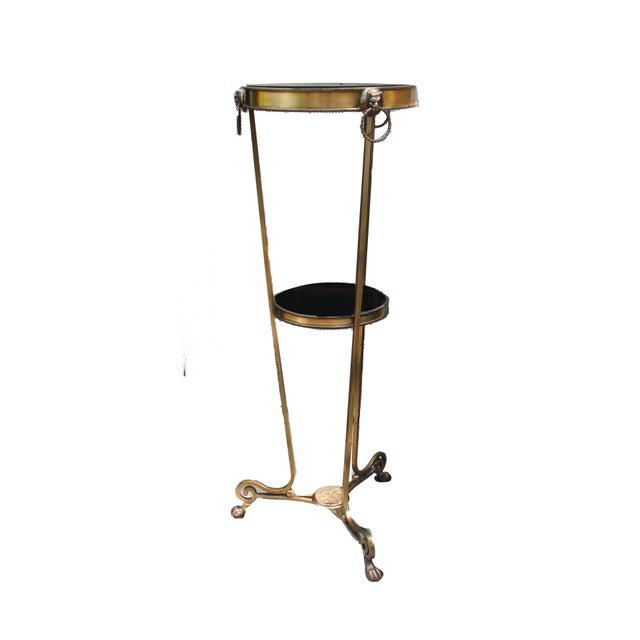 Bronze & Marble Regency Style Pedestal For Sale - Image 4 of 4