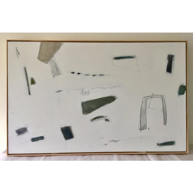 Abstract Painting Blues and Greens For Sale - Image 9 of 9