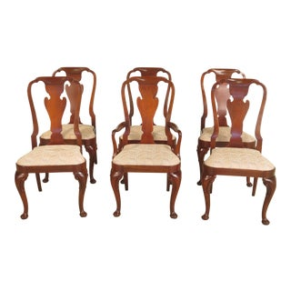 Baker Queen Anne Mahogany Dining Room Chairs - Set of 6