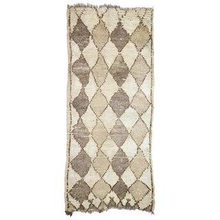 1970s Vintage Berber Moroccan Rug - 2′7″ × 5′8″ For Sale