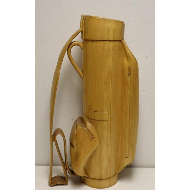 Vintage Carved Wood Decorative Golf Bag For Sale - Image 11 of 11