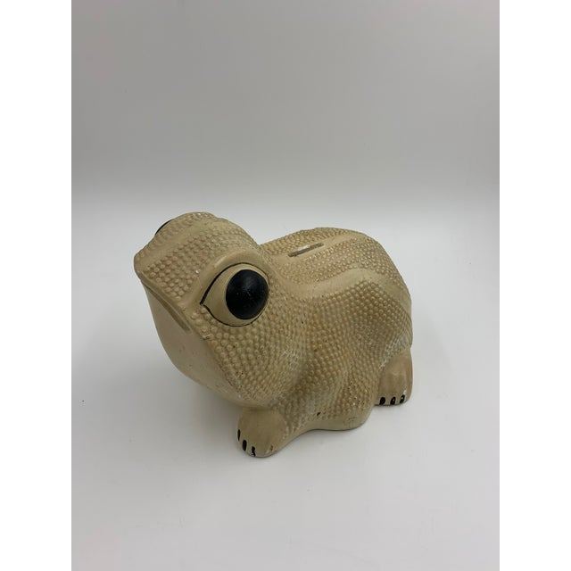 Paint Vintage Chalkware Frog Bank For Sale - Image 7 of 11