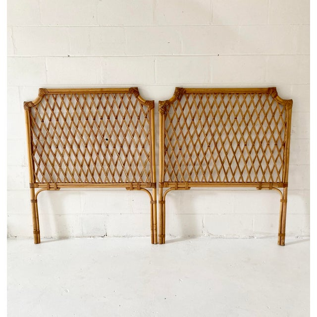 Vintage Rattan Headboards- a Pair For Sale - Image 13 of 13