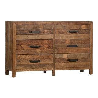 Saw Cut Elm Dresser For Sale