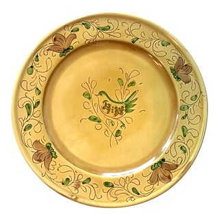 Italian Hand Painted Plate For Sale