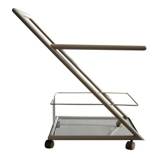 White French Metal Bar Trolley 1980 For Sale