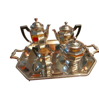 1960s Vintage Christofle Gallia Tea Set - Set of 5 For Sale