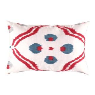 Turkish Hand Woven Silk Ikat Pillow #Ti 240 For Sale