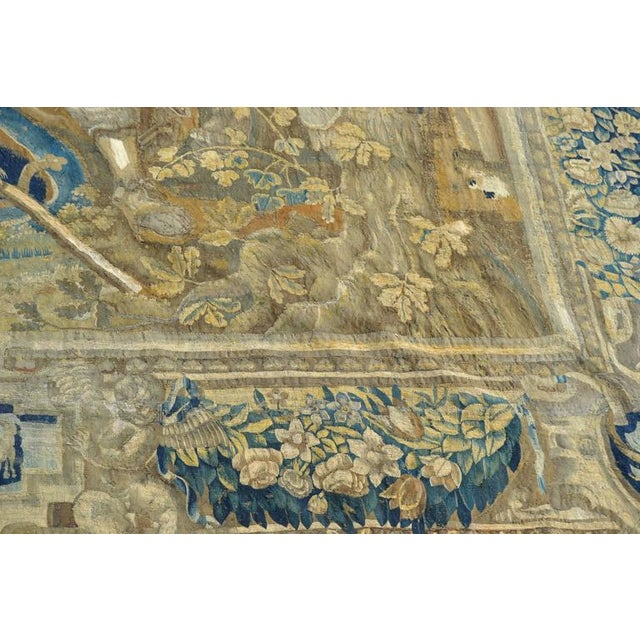 Fabric Huge Flemish Tapestry of King Solomon Meeting the Queen of Sheba For Sale - Image 7 of 8