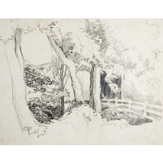 Covered Bridge Pencil Study For Sale