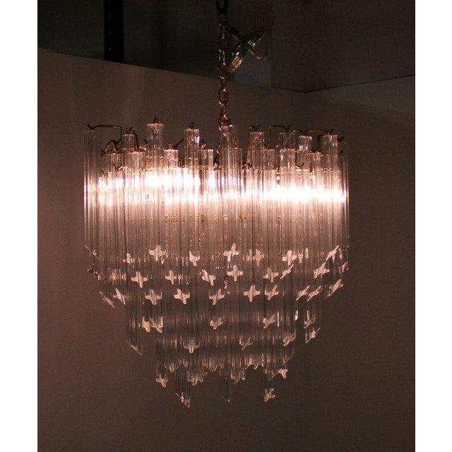 Very nice mid century modern Camer chandelier.