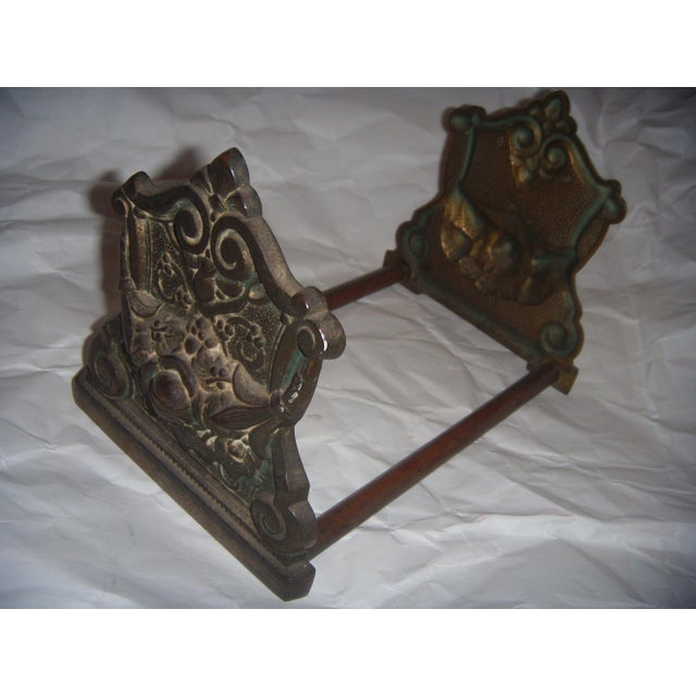 Victorian Expandable Ornate Brass Bookends - Image 2 of 11