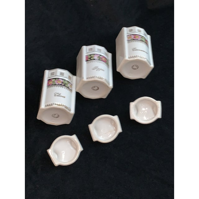 Art Nouveau L & R Germany Spice Condiments Jars Set of 3 For Sale - Image 10 of 13