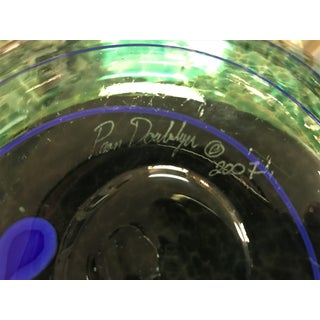 Signed Glass Green and Blue Spiral Bowl Preview