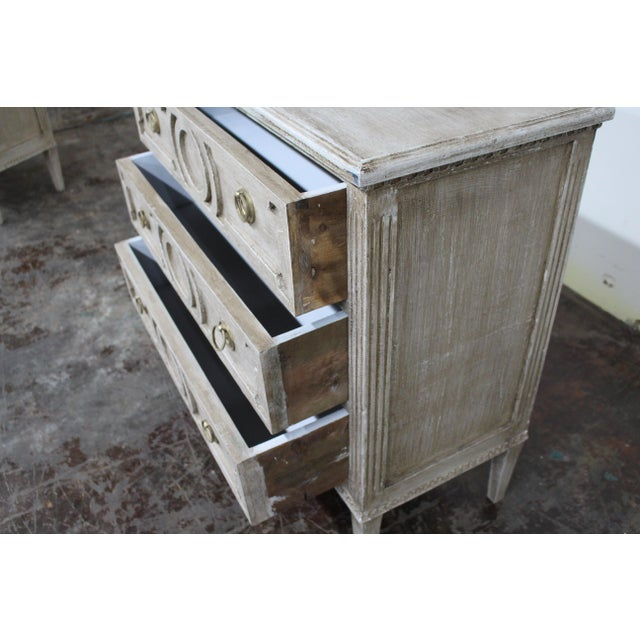 20th Century Vintage Swedish Gustavian Style Nightstands - a Pair For Sale In Atlanta - Image 6 of 12