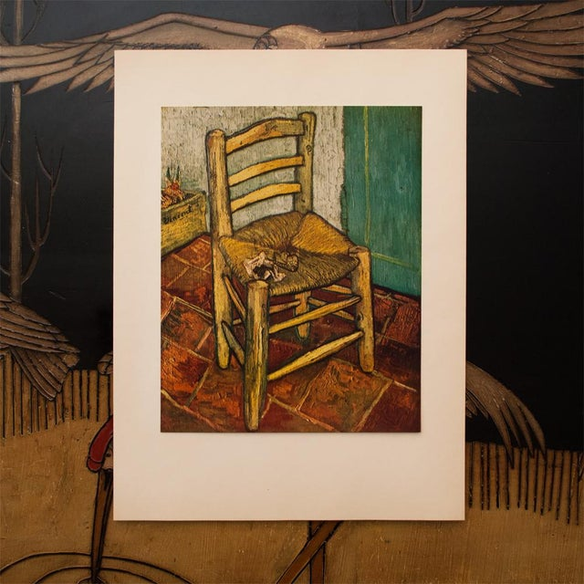 Modern 1950s Van Gogh's Chair by Vincent Van Gogh, First Edition Lithograph For Sale - Image 3 of 8