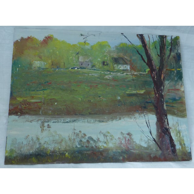 H.l. Musgrave Modernist Landscape Oil Painting - Image 2 of 6