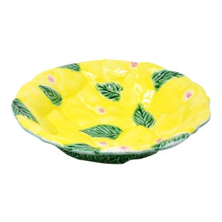 "12"" Vintage Italian Lemons and Leaves Bowl"